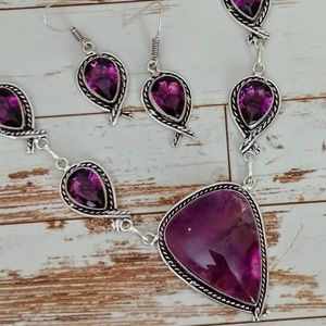 Jewelry - Amethyst Necklace & Earring Set